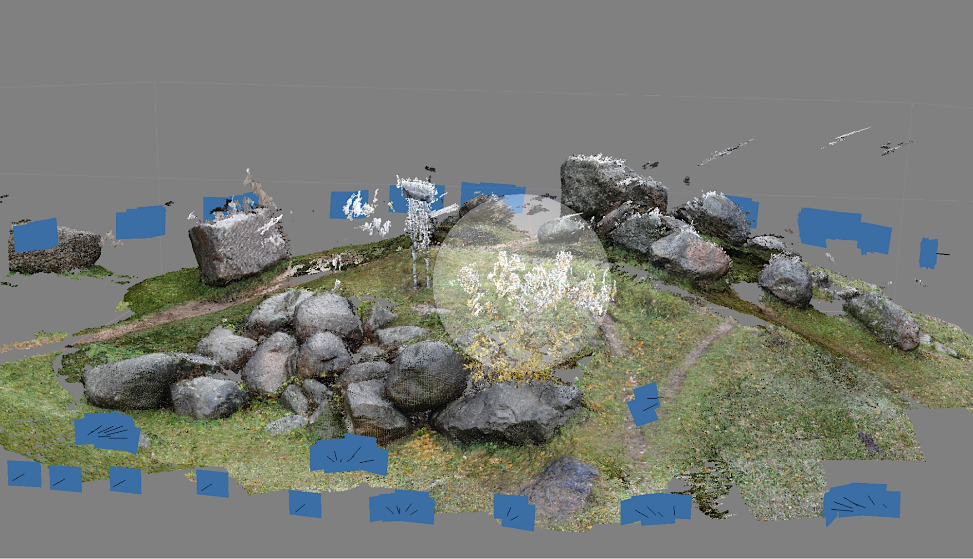 3d-scan of stones at the Museum of stones in Minsk / Taken by eeefff